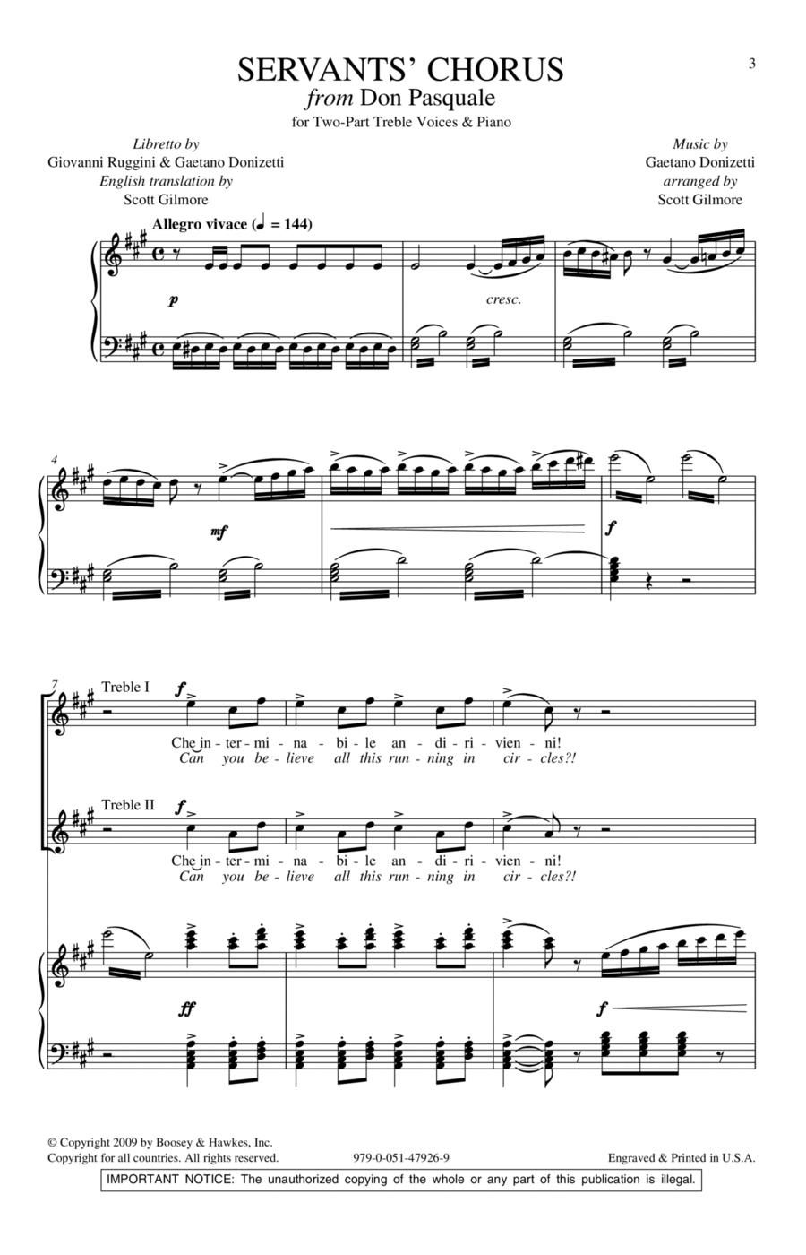 Servants' Chorus