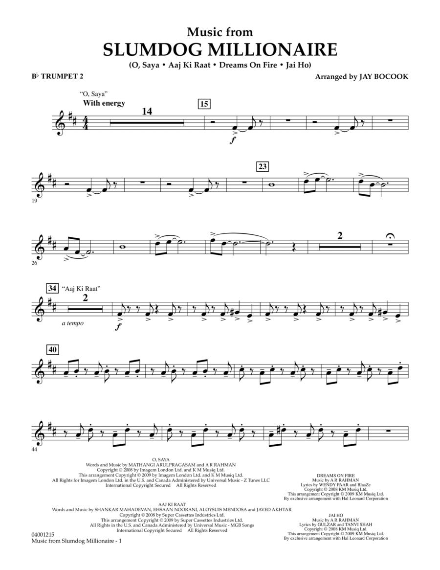 Music from Slumdog Millionaire - Bb Trumpet 2
