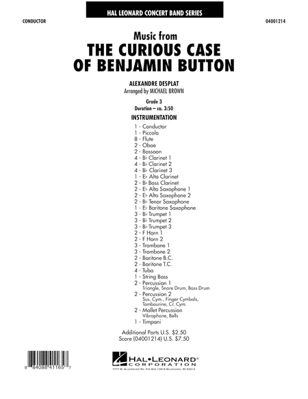Music from The Curious Case of Benjamin Button - Full Score