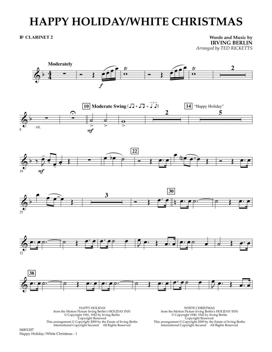 Happy Holiday/White Christmas - Bb Clarinet 2