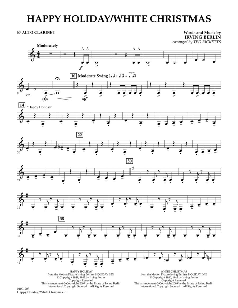 Happy Holiday/White Christmas - Eb Alto Clarinet