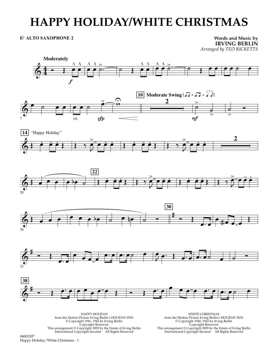 Happy Holiday/White Christmas - Eb Alto Saxophone 2