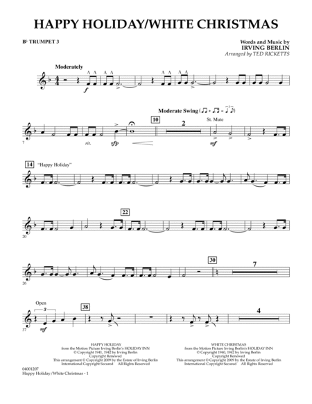 Happy Holiday/White Christmas - Bb Trumpet 3