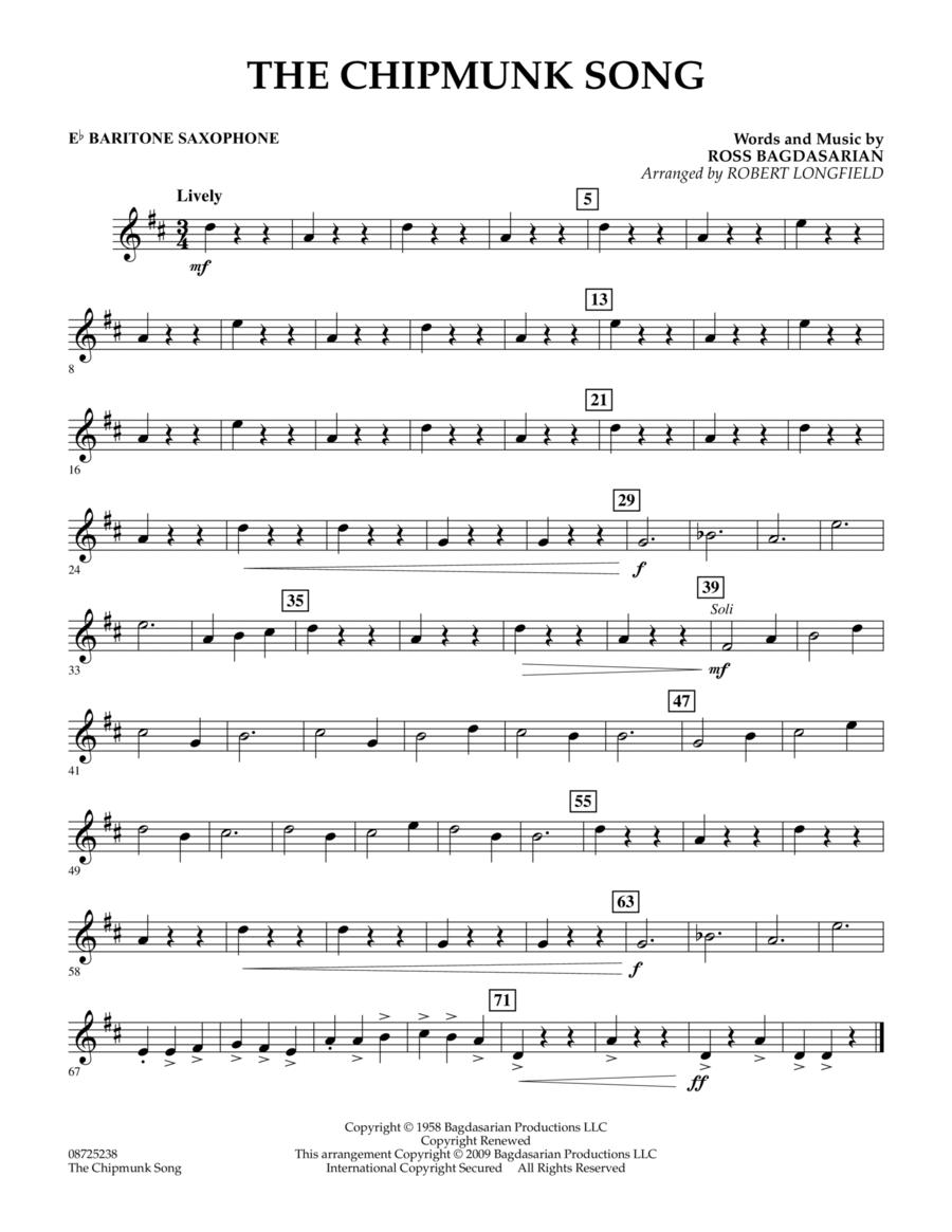 The Chipmunk Song - Eb Baritone Saxophone