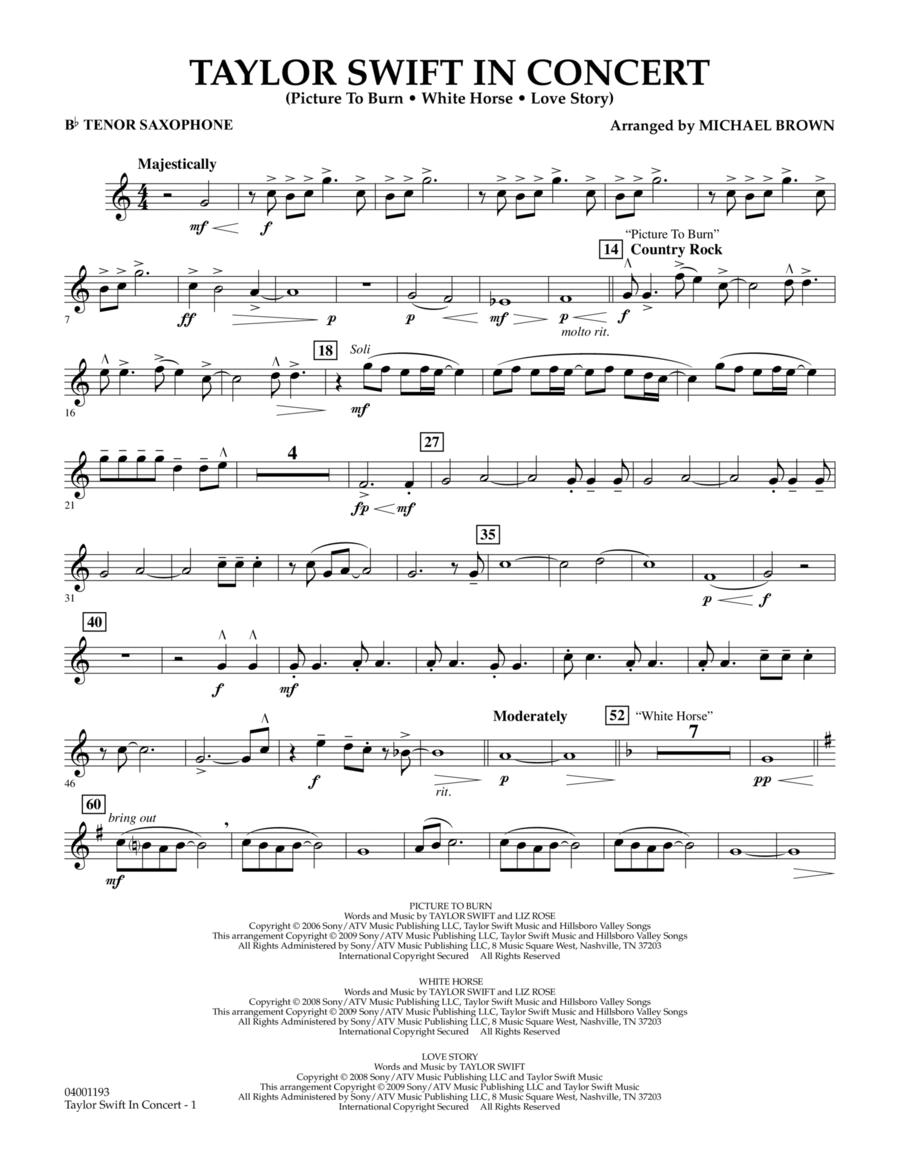 Taylor Swift - In Concert - Bb Tenor Saxophone