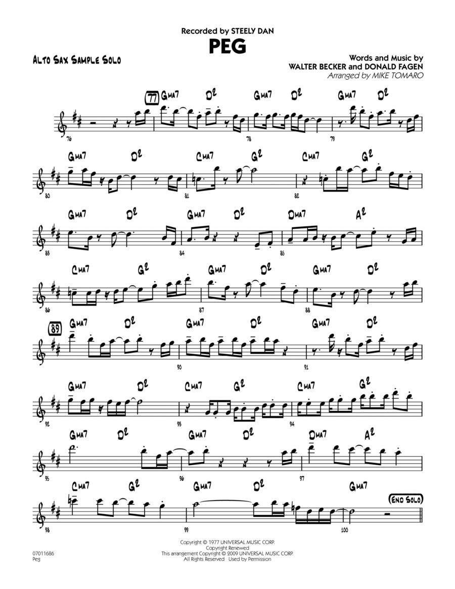 Peg - Alto Sax Sample Solo