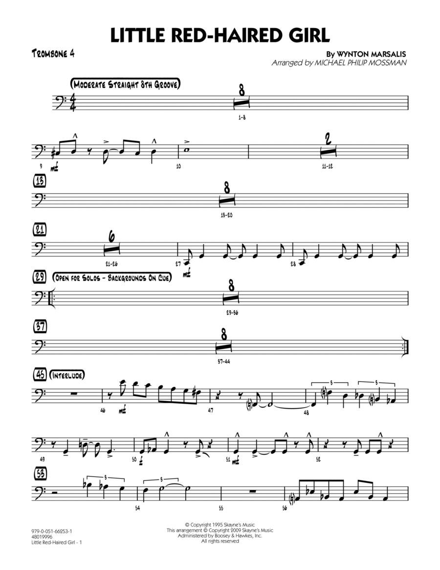 Little Red-Haired Girl - Trombone 4