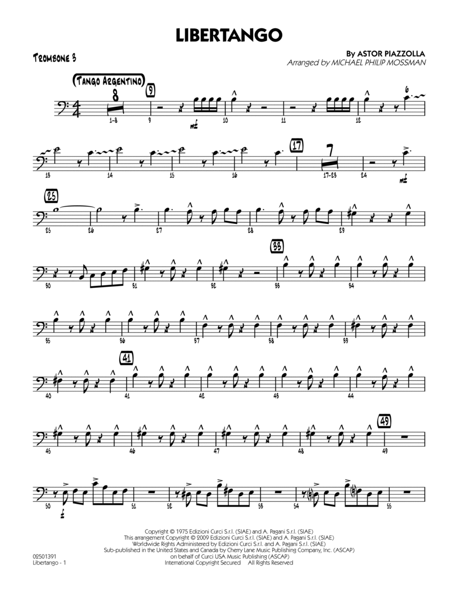 Libertango - Trombone 3