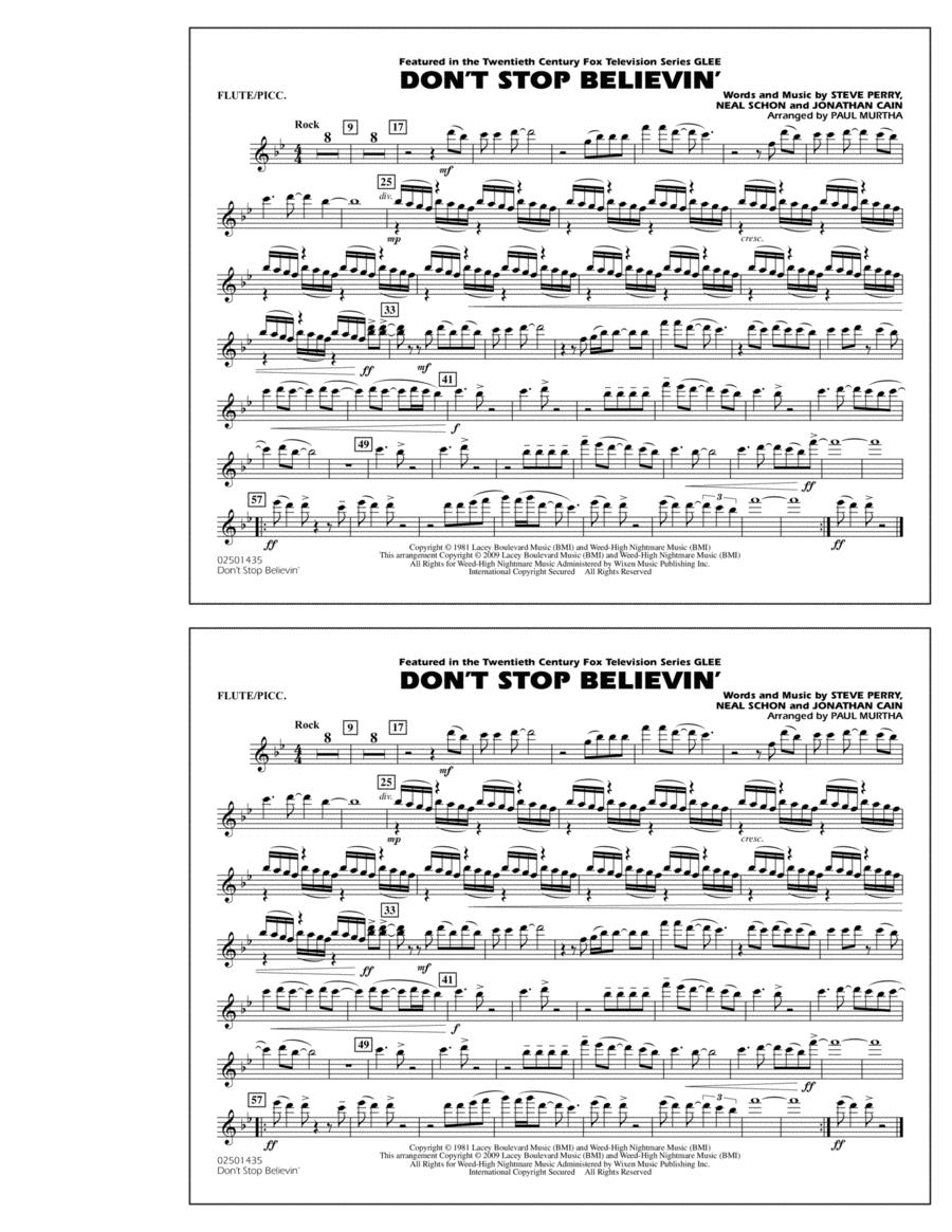 Don't Stop Believin' - Flute/Piccolo