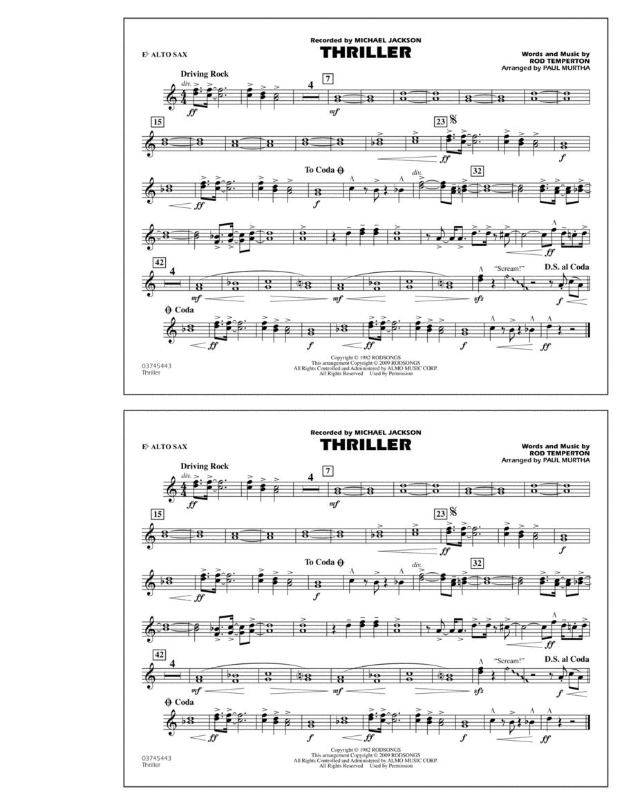 Thriller - Eb Alto Sax