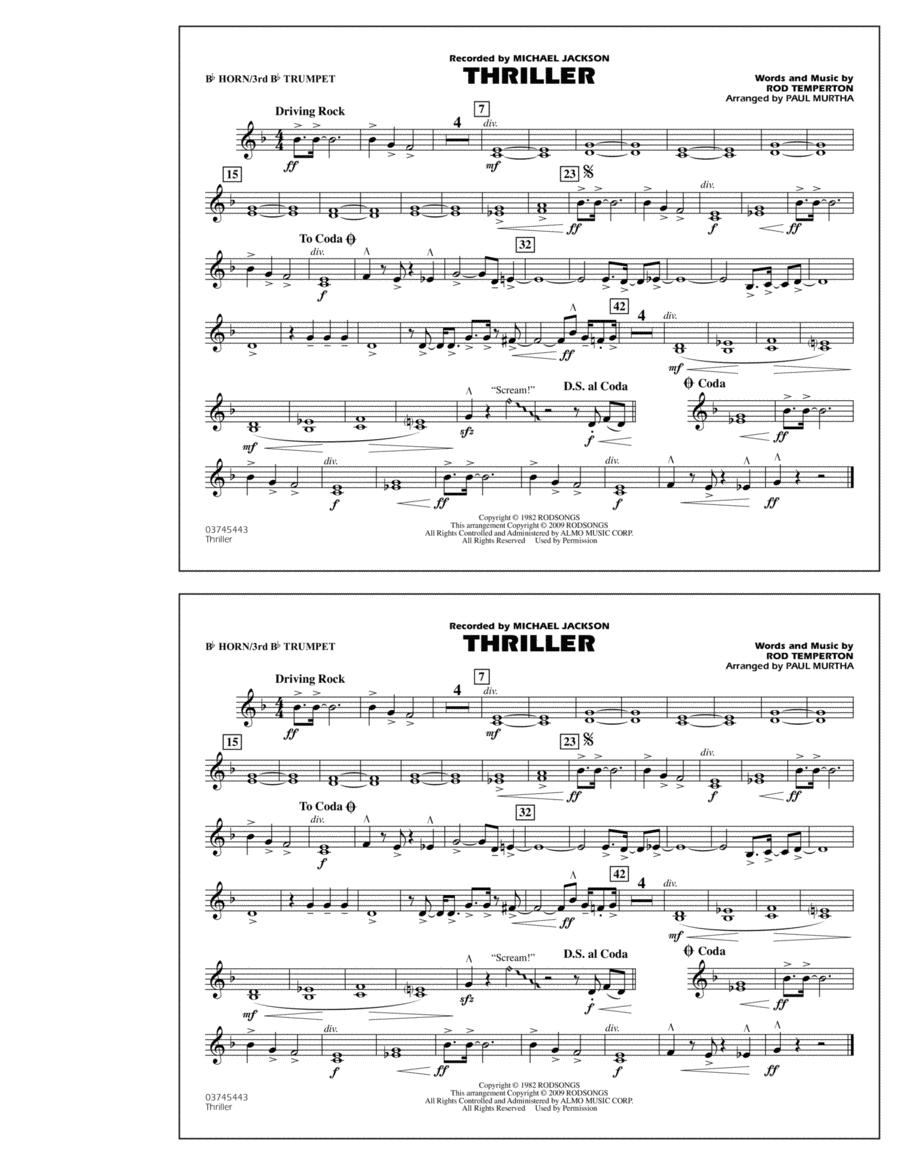 Thriller - Bb Horn/3rd Bb Tpt