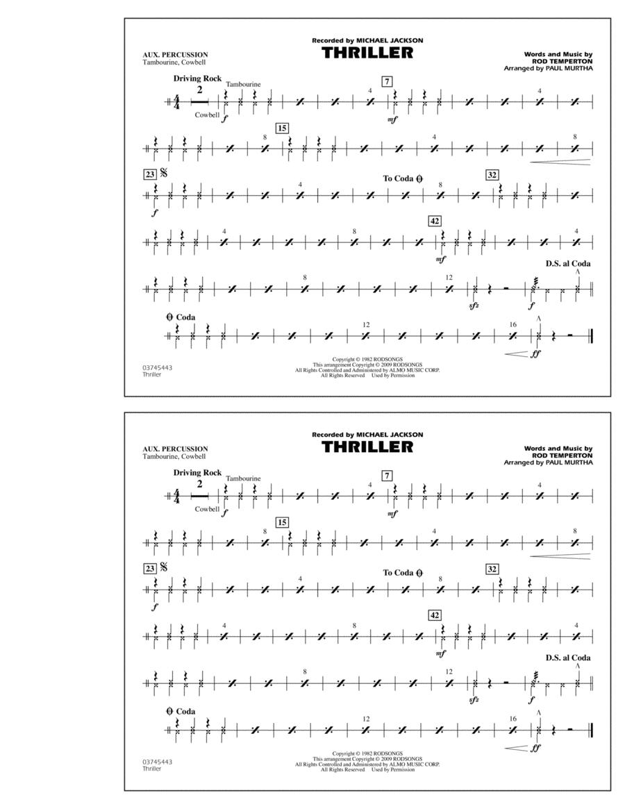Thriller - Aux Percussion
