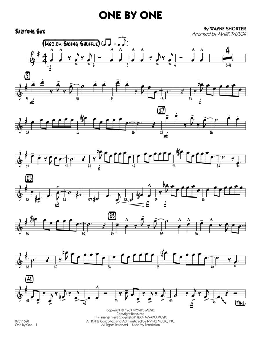 One by One - Baritone Sax