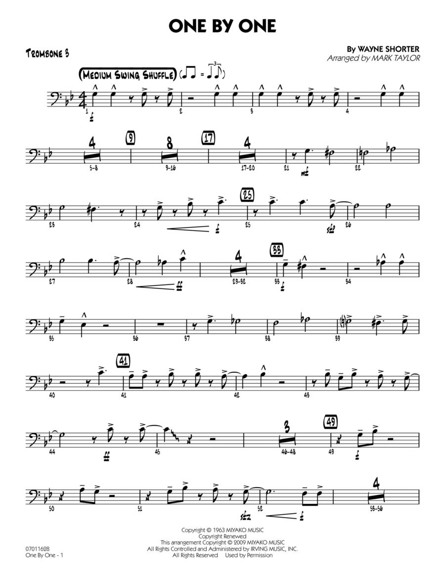 One by One - Trombone 3