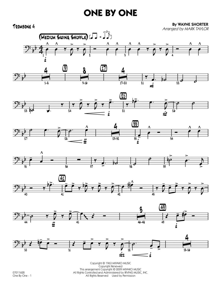 One by One - Trombone 4