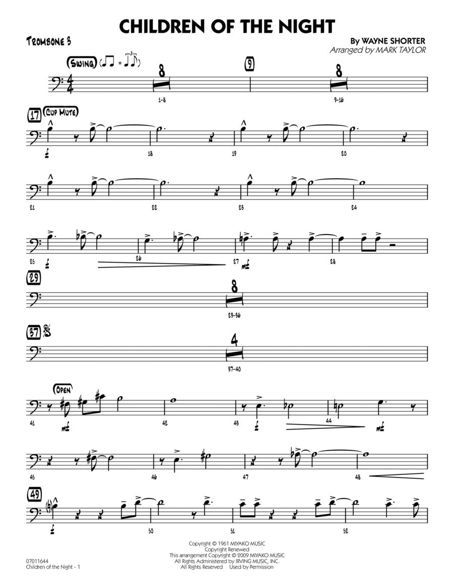 Children of the Night - Trombone 3
