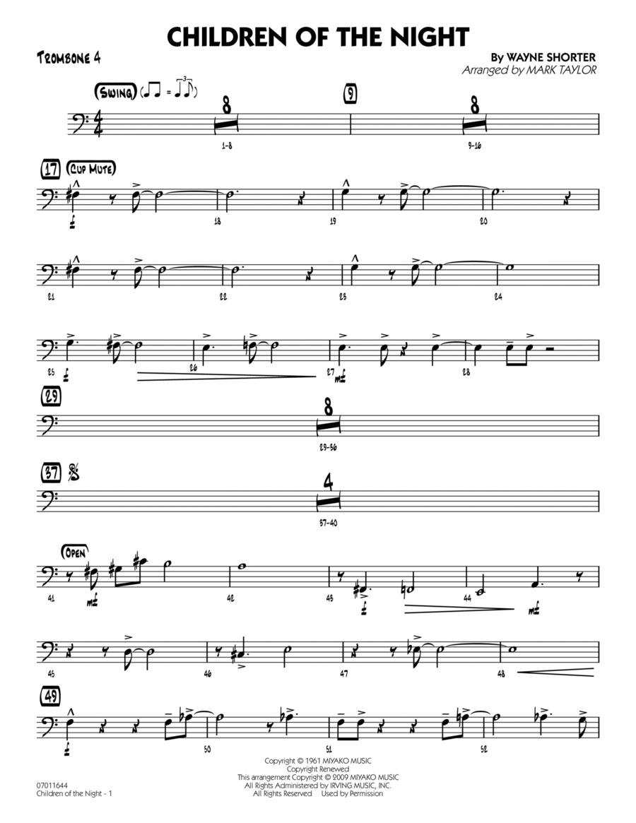 Children of the Night - Trombone 4