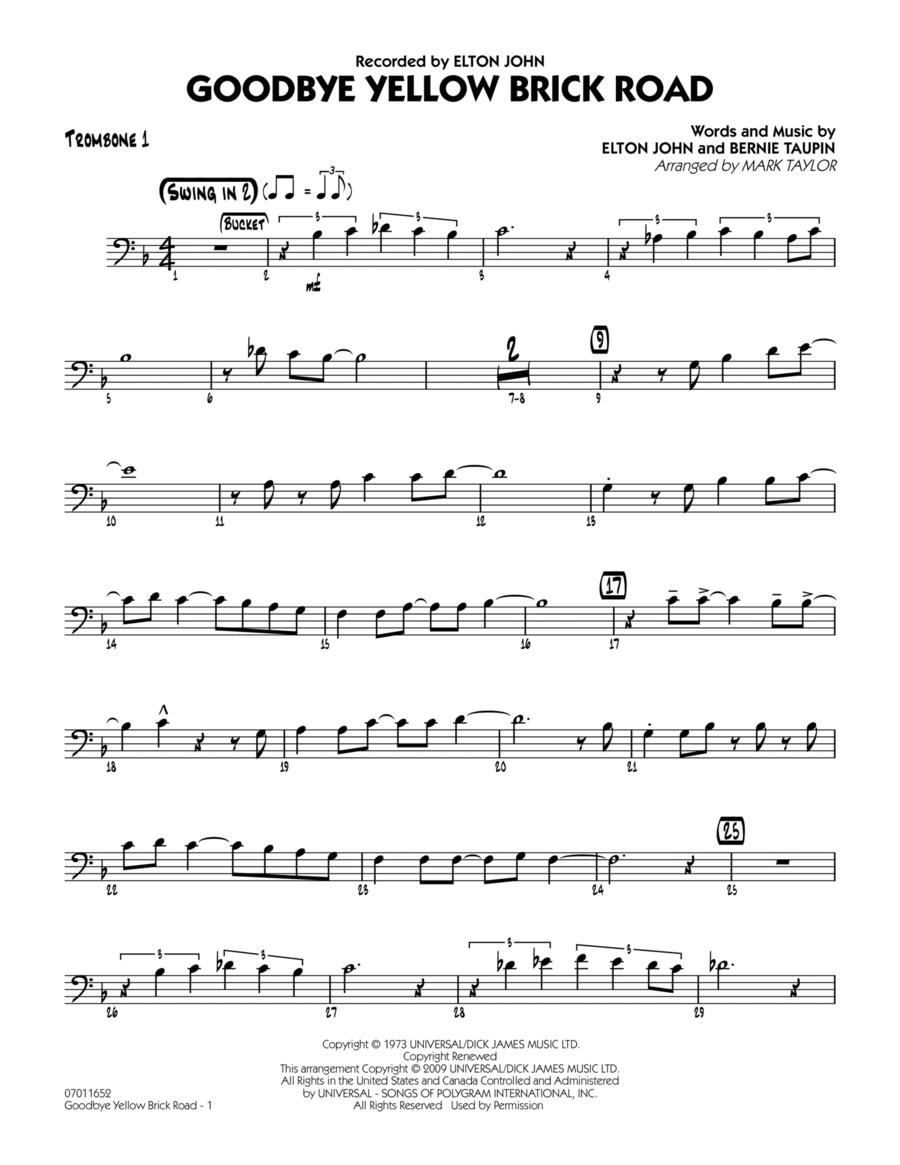 Goodbye Yellow Brick Road - Trombone 1