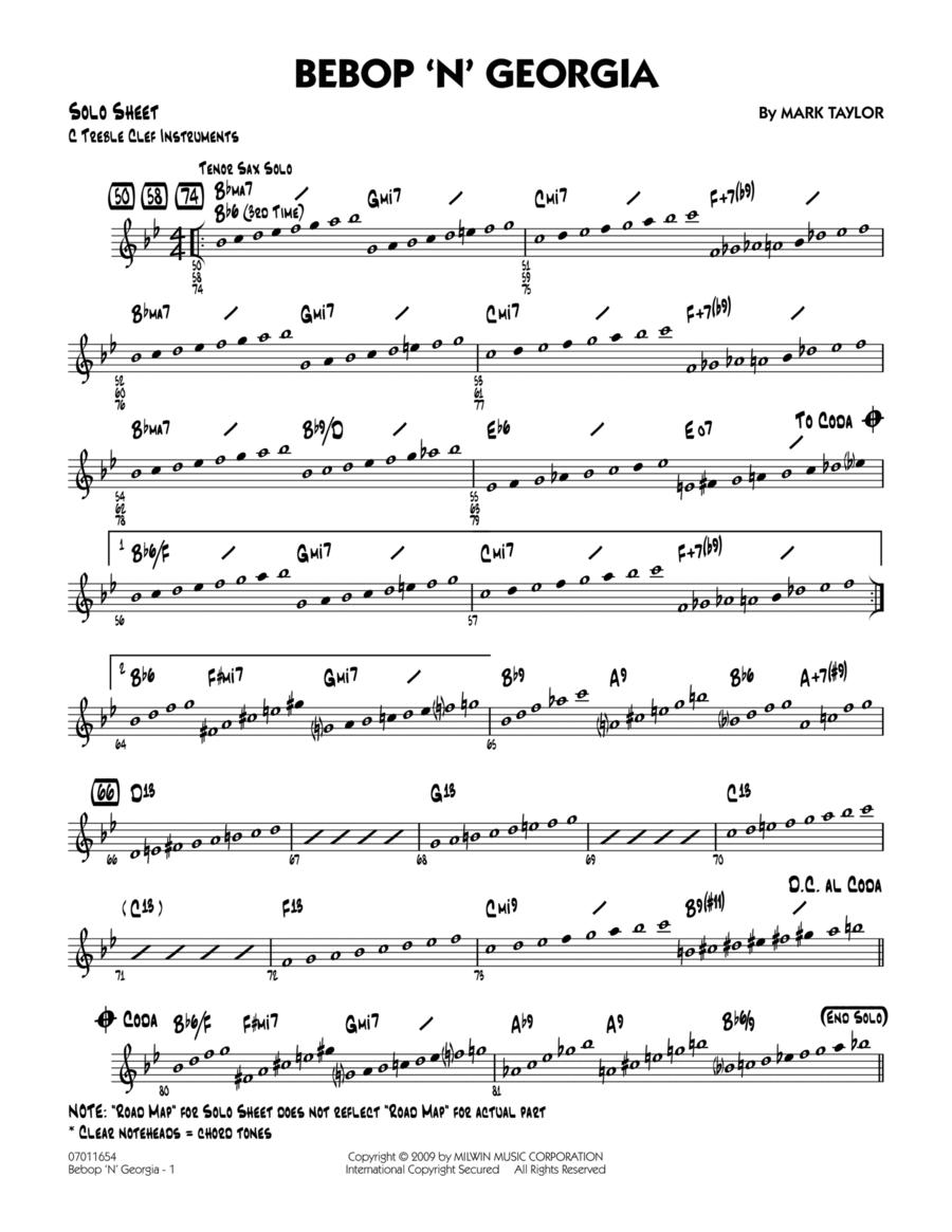 Bebop 'n' Georgia - C Solo Sheet