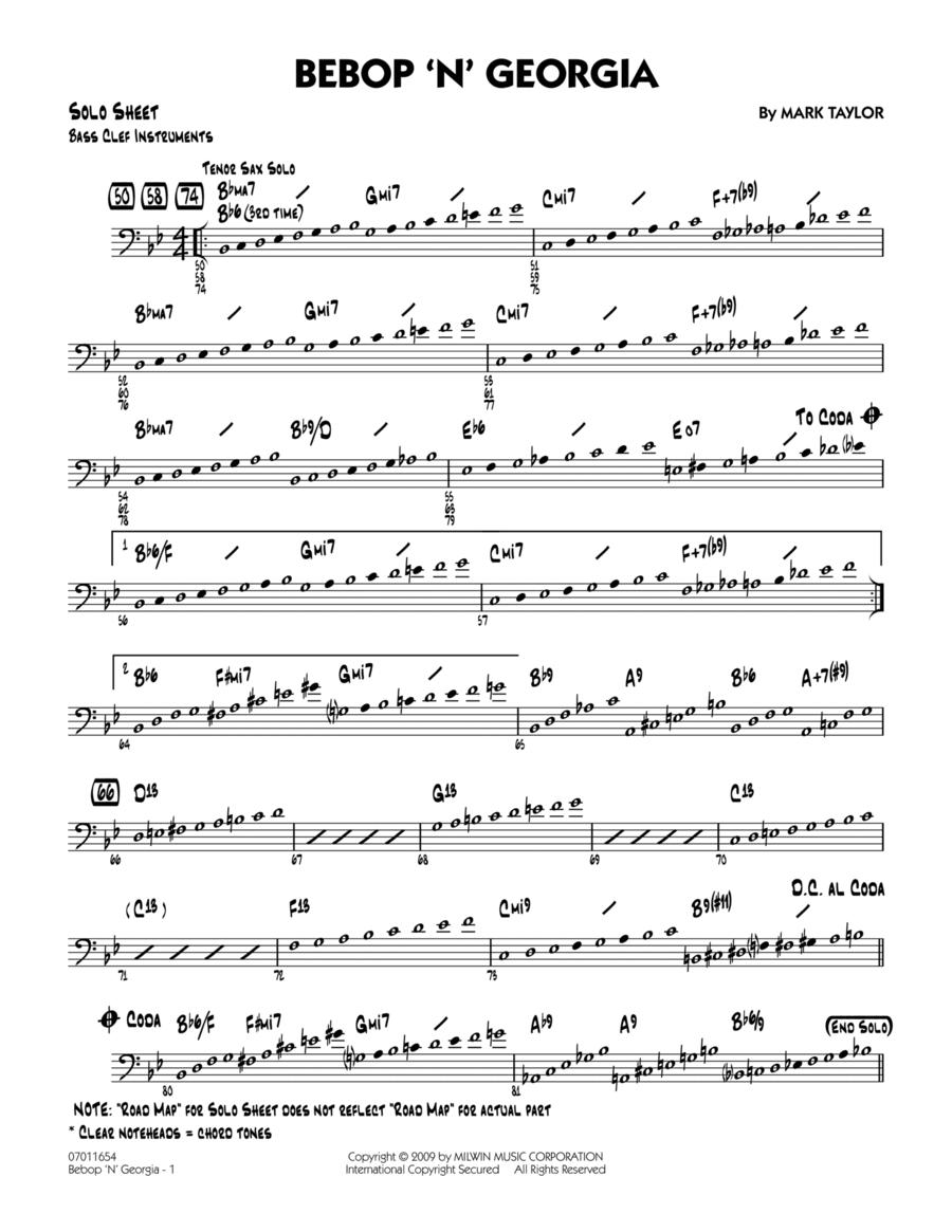 Bebop 'n' Georgia - Bass Clef Solo Sheet