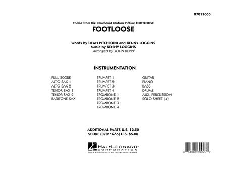 Footloose - Full Score