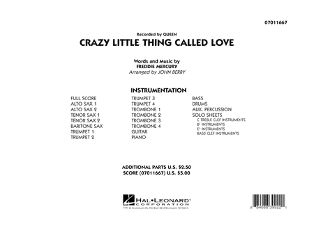 Crazy Little Thing Called Love - Full Score