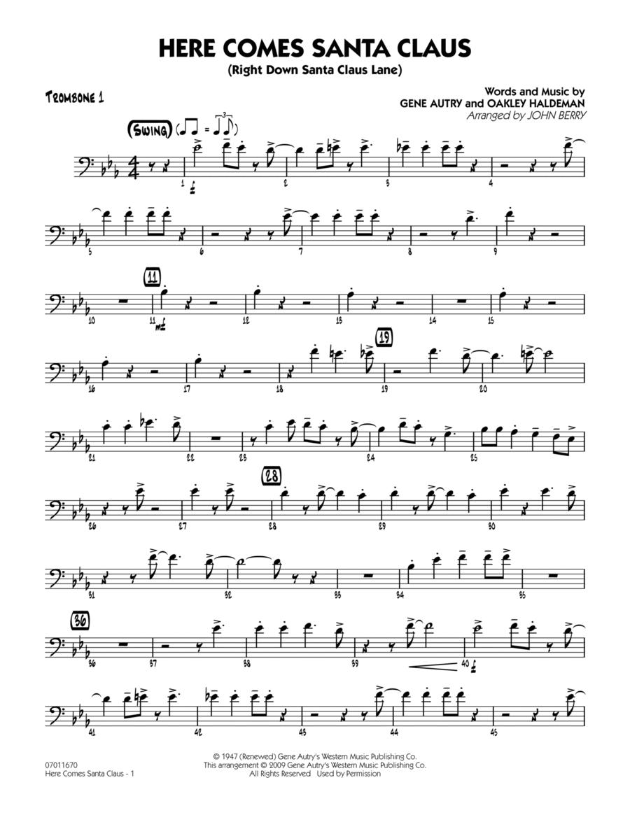 Here Comes Santa Claus (Right Down Santa Claus Lane) - Trombone 1