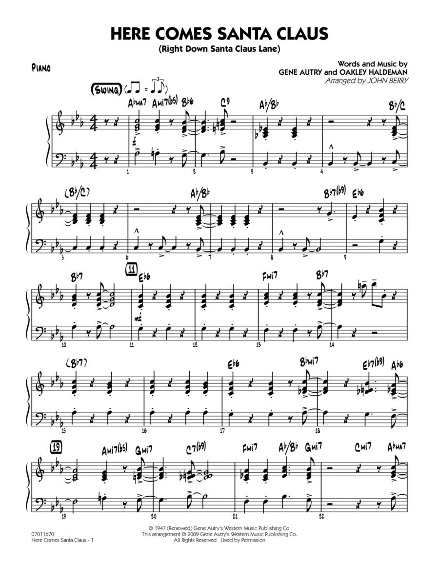 Here Comes Santa Claus (Right Down Santa Claus Lane) - Piano