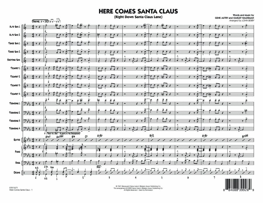 Here Comes Santa Claus (Right Down Santa Claus Lane) - Full Score