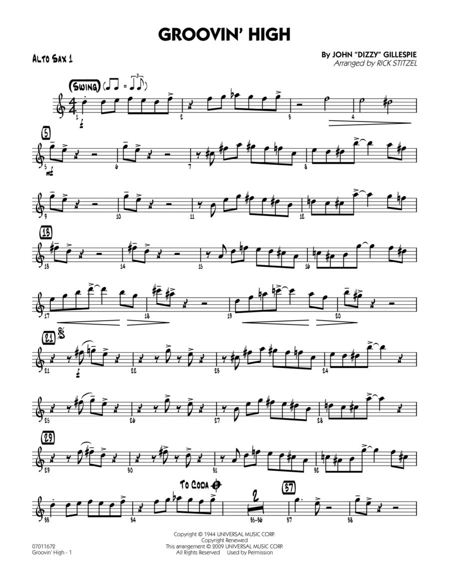 Groovin' High - Alto Sax 1