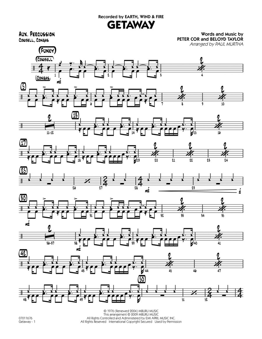 Getaway - Aux Percussion