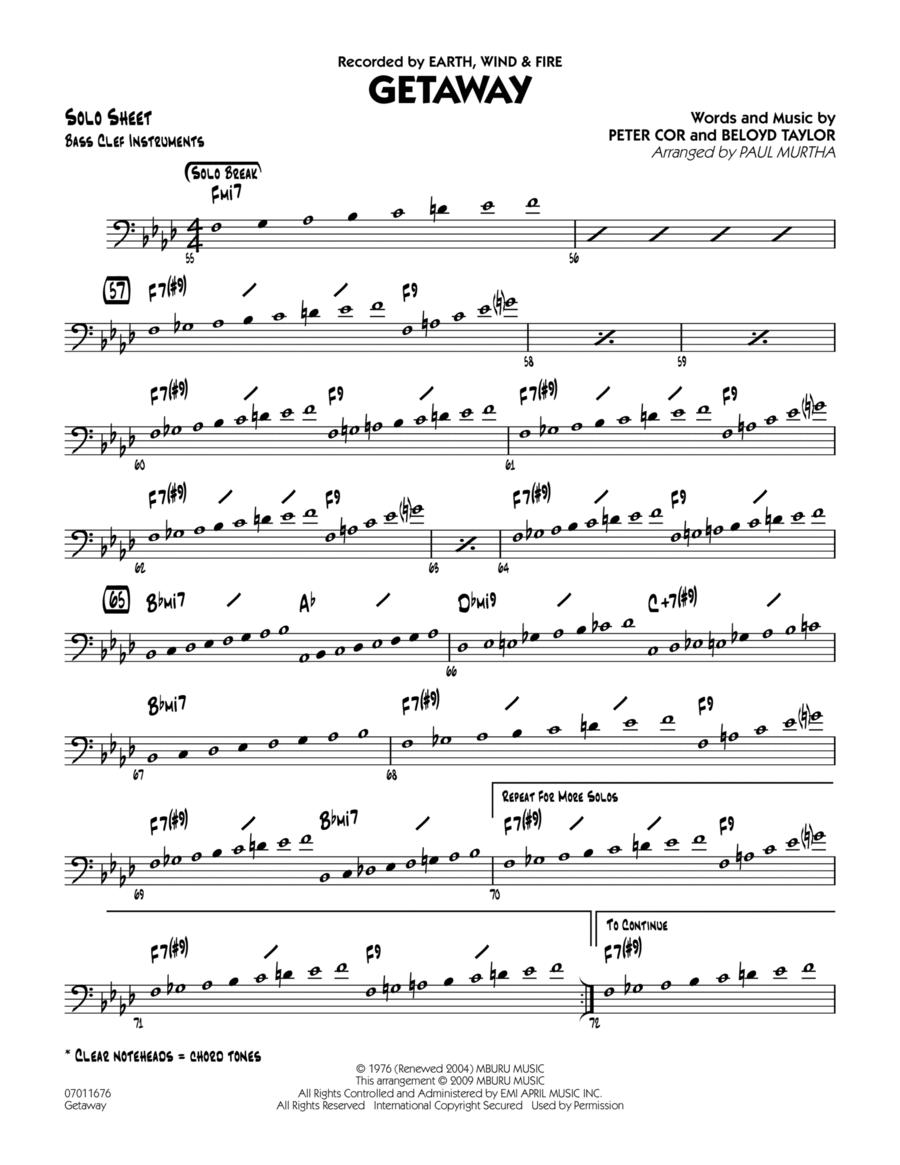 Getaway - Bass Clef Solo Sheet