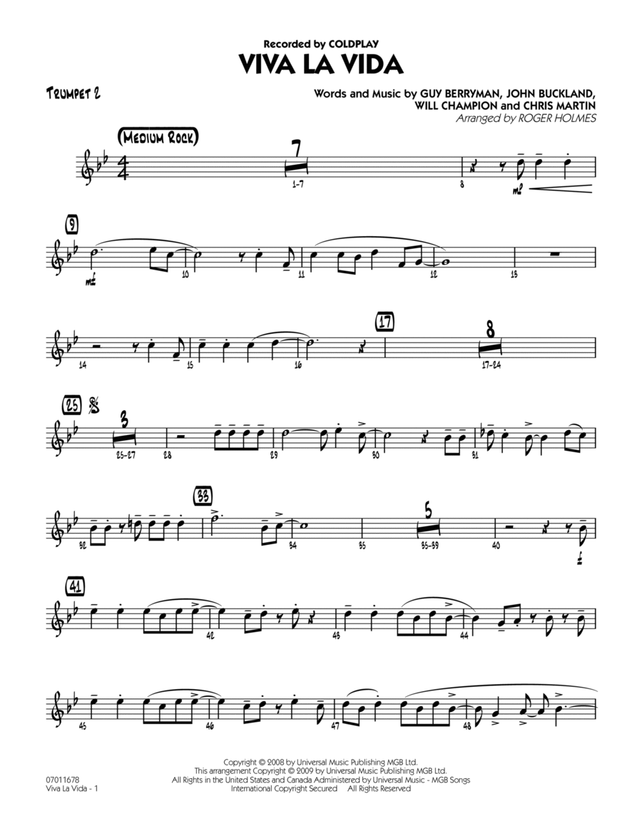 Guitar u00bb Guitar Tabs Viva La Vida - Music Sheets, Tablature, Chords and Lyrics