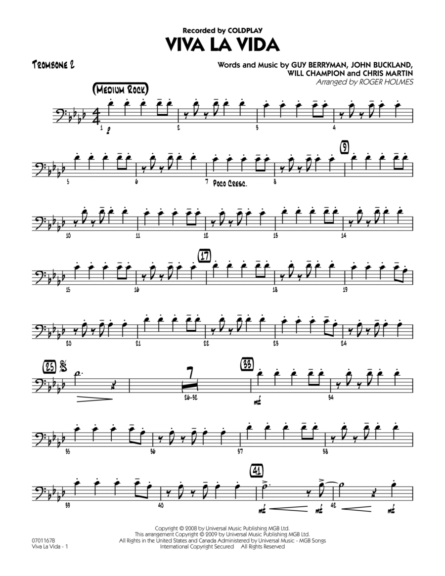 Viva La Vida - Trombone 2