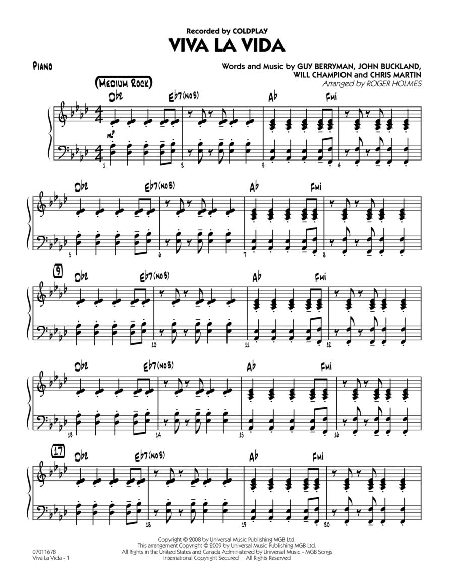 Viva La Vida - Piano