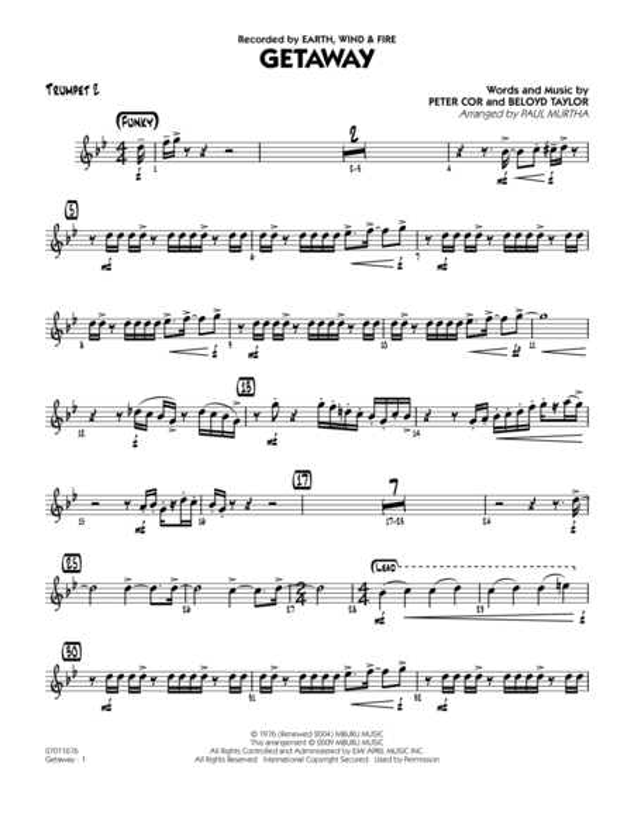 Getaway - Trumpet 2