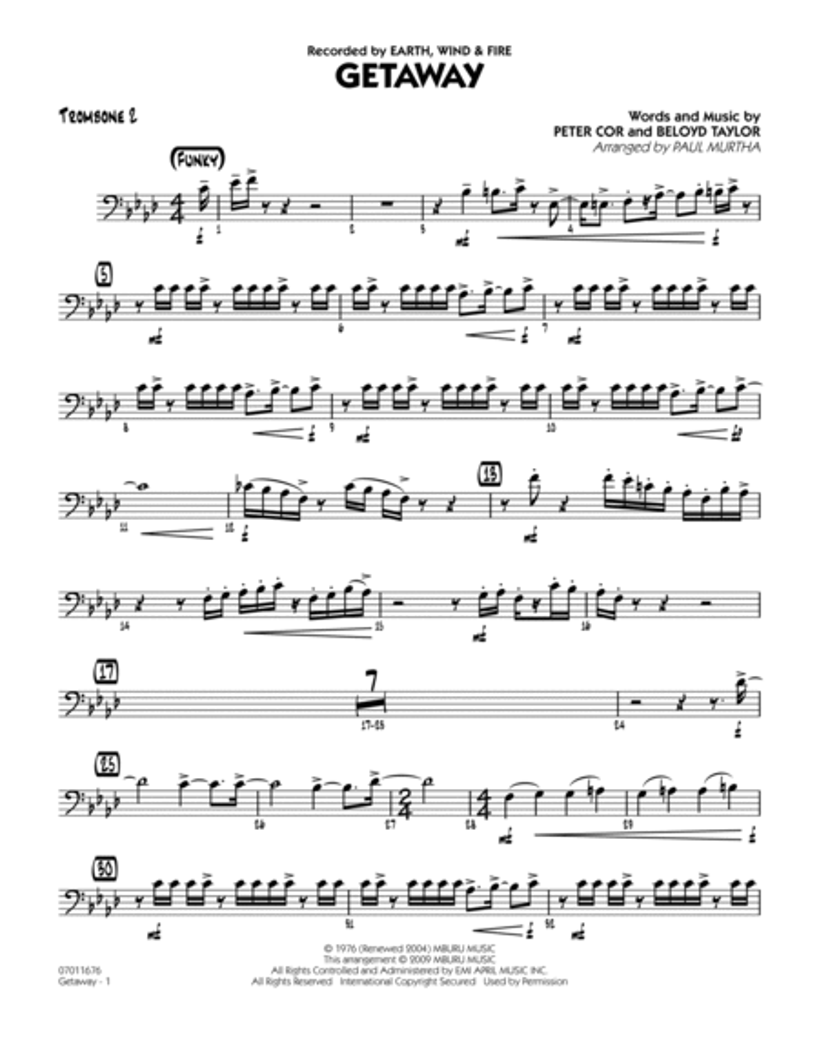 Getaway - Trombone 2