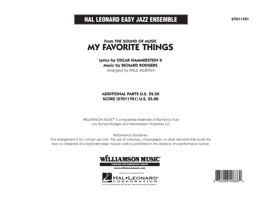 My Favorite Things - Full Score