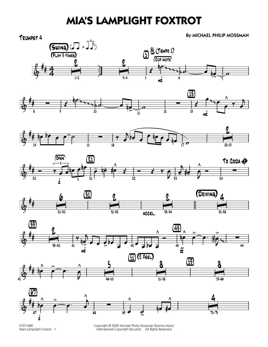 Mia's Lamplight Foxtrot - Trumpet 4