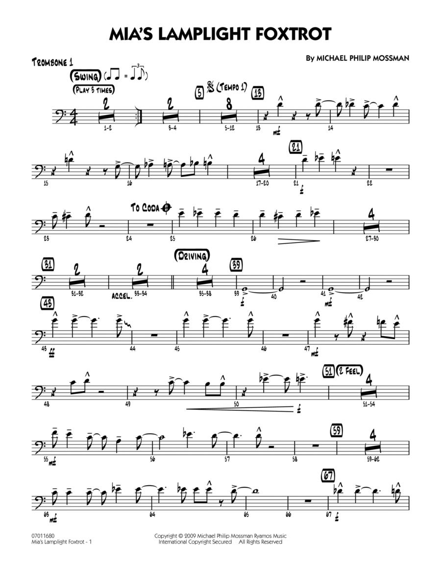 Mia's Lamplight Foxtrot - Trombone 1
