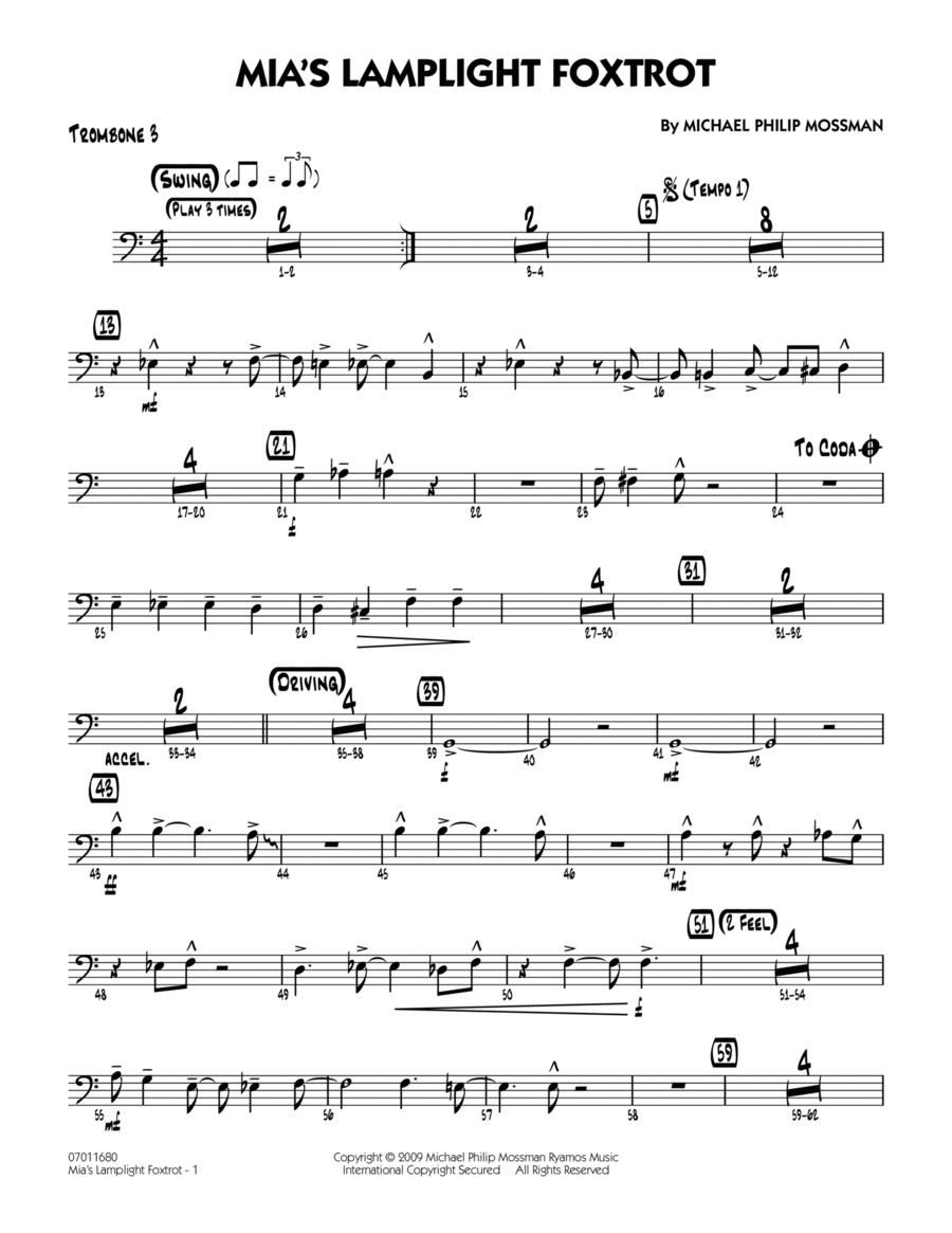 Mia's Lamplight Foxtrot - Trombone 3
