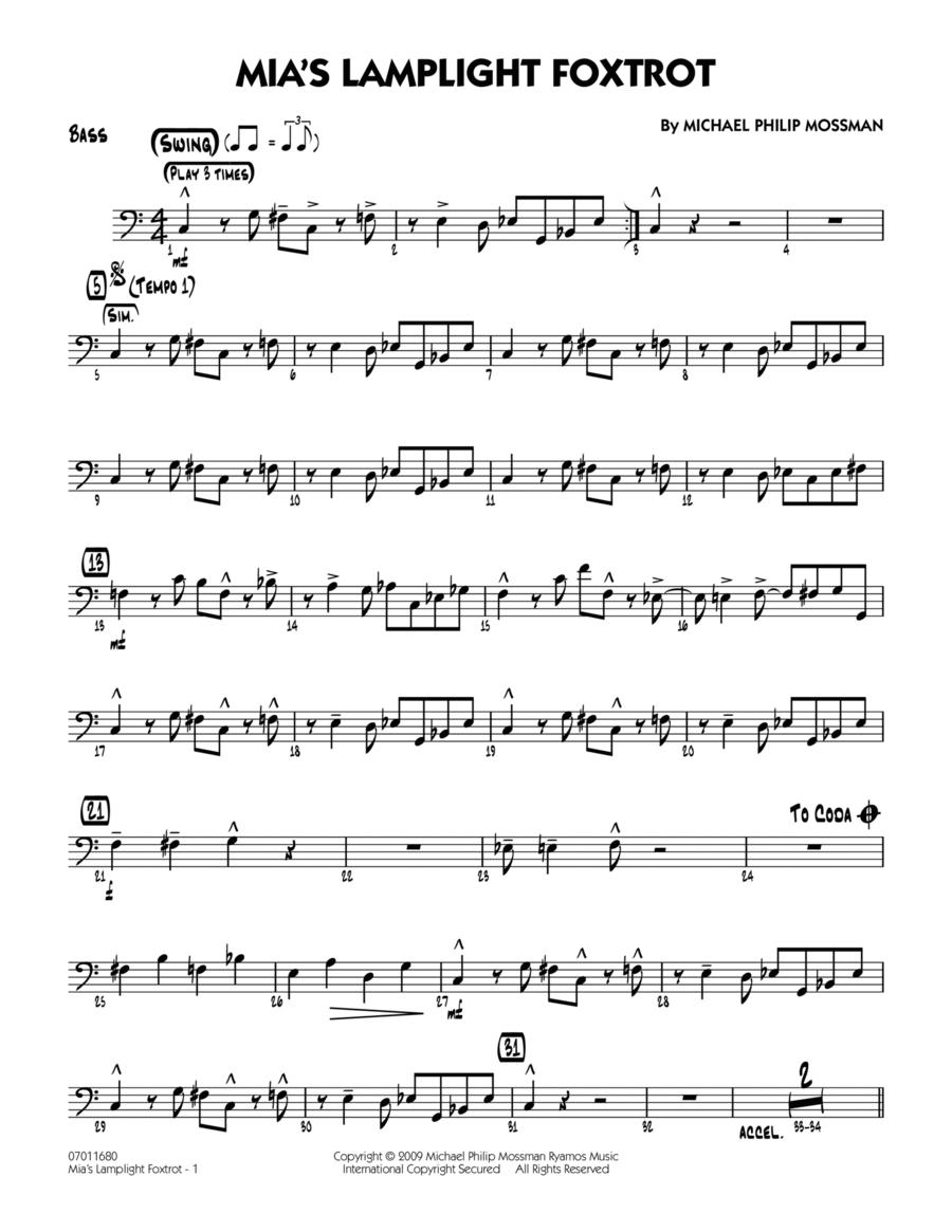 Mia's Lamplight Foxtrot - Bass