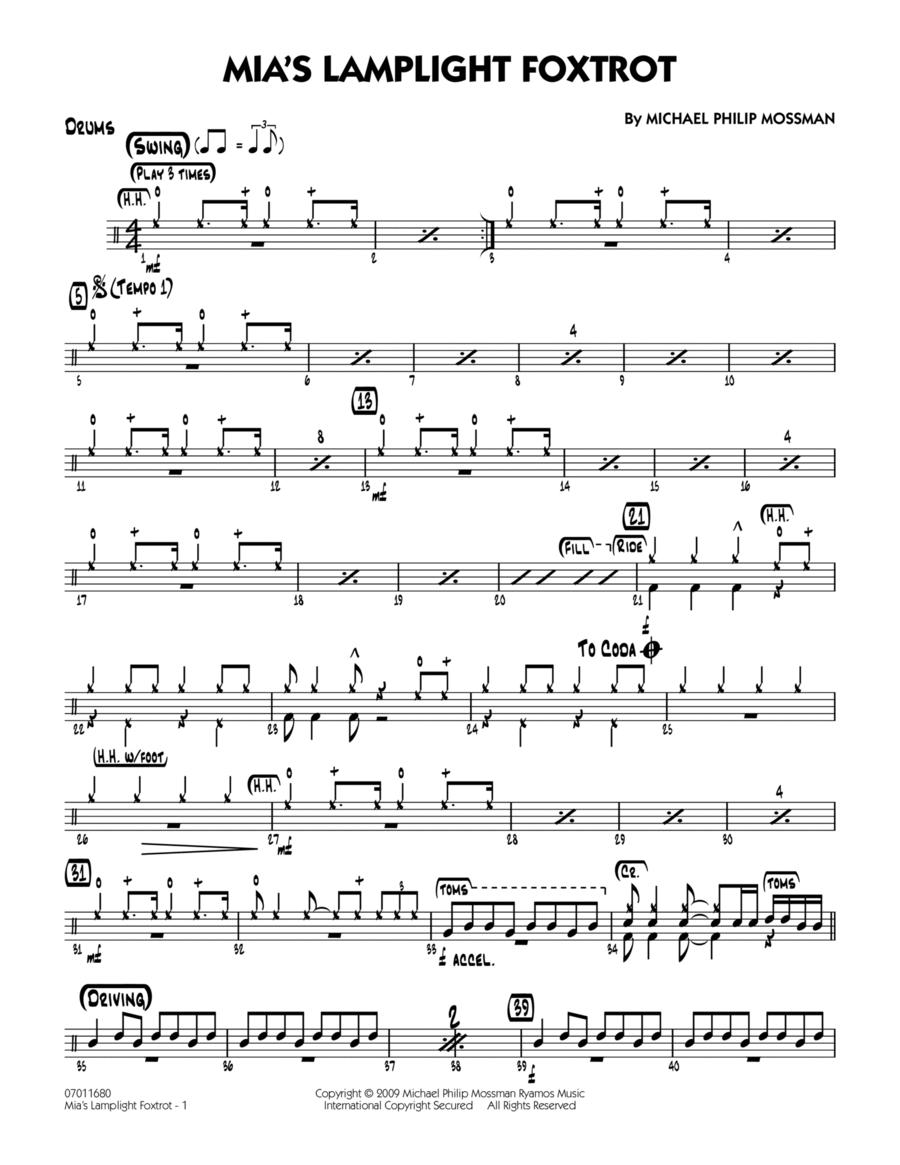 Mia's Lamplight Foxtrot - Drums