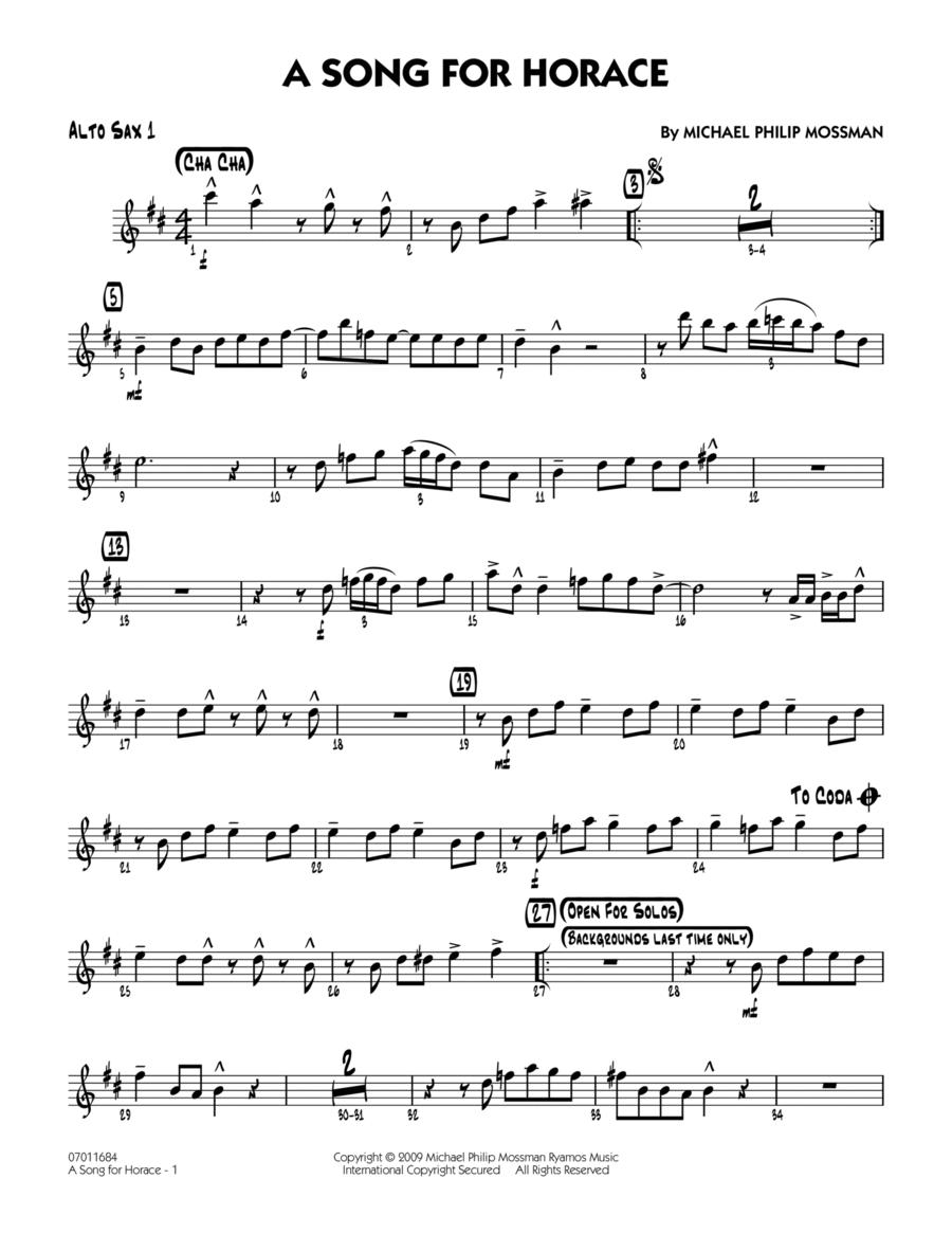 A Song for Horace - Alto Sax 1