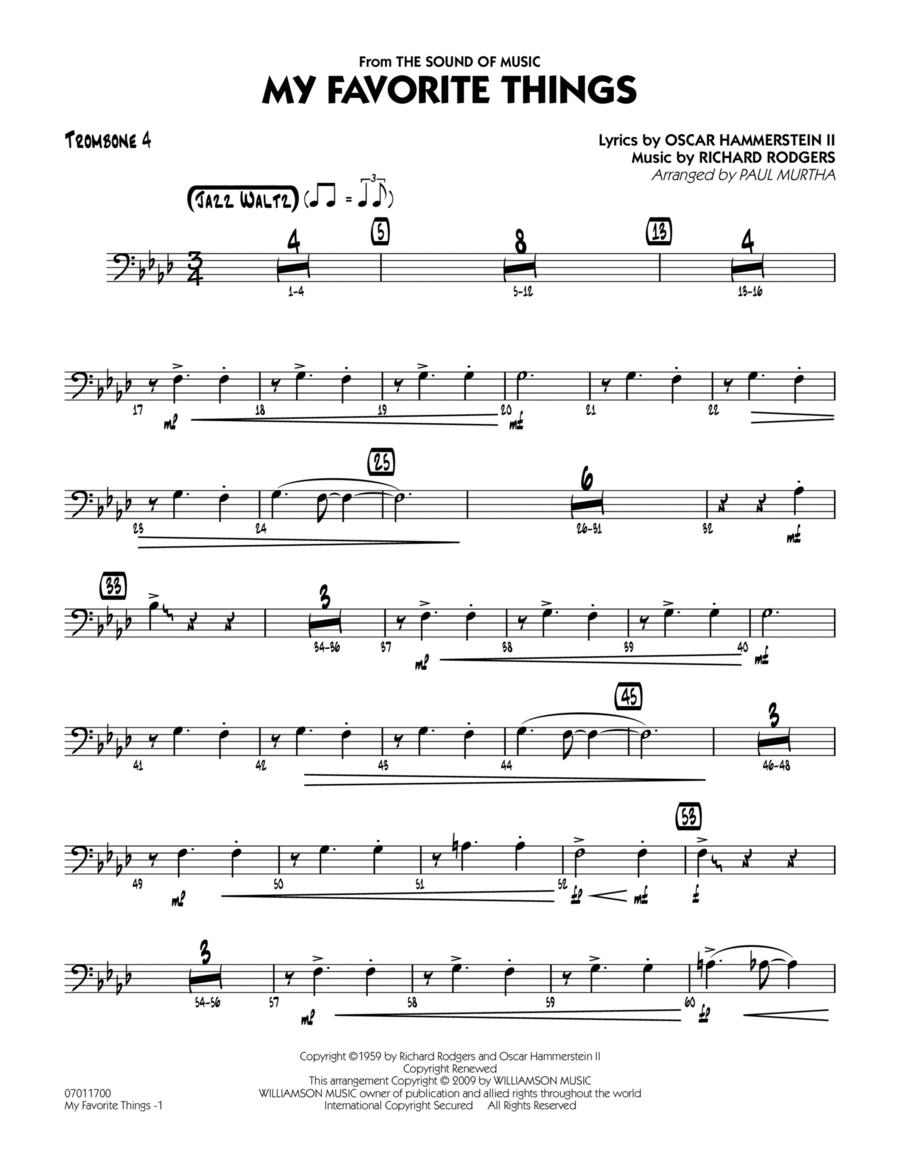 My Favorite Things - Trombone 4