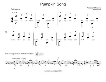Pumpkin Song (Piano Duet)
