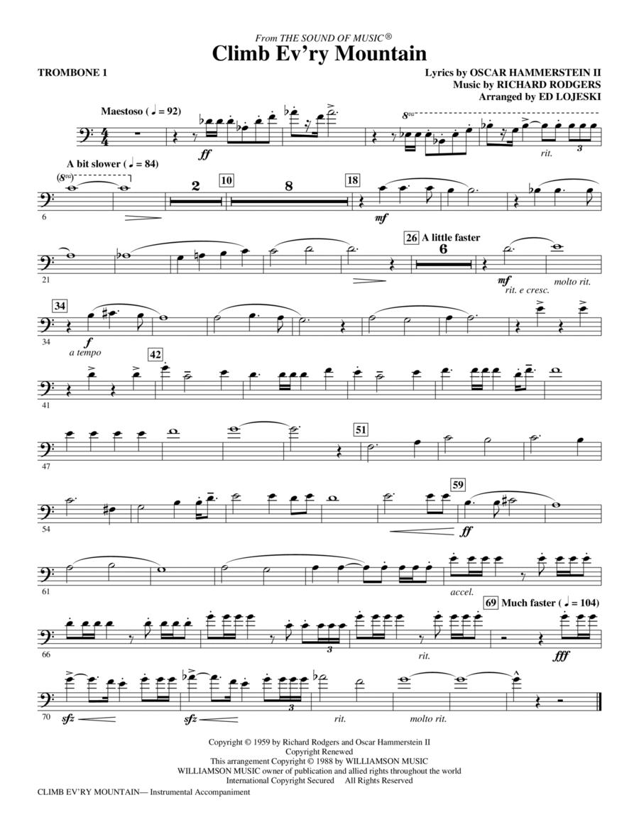 Climb Ev'ry Mountain - Trombone 1