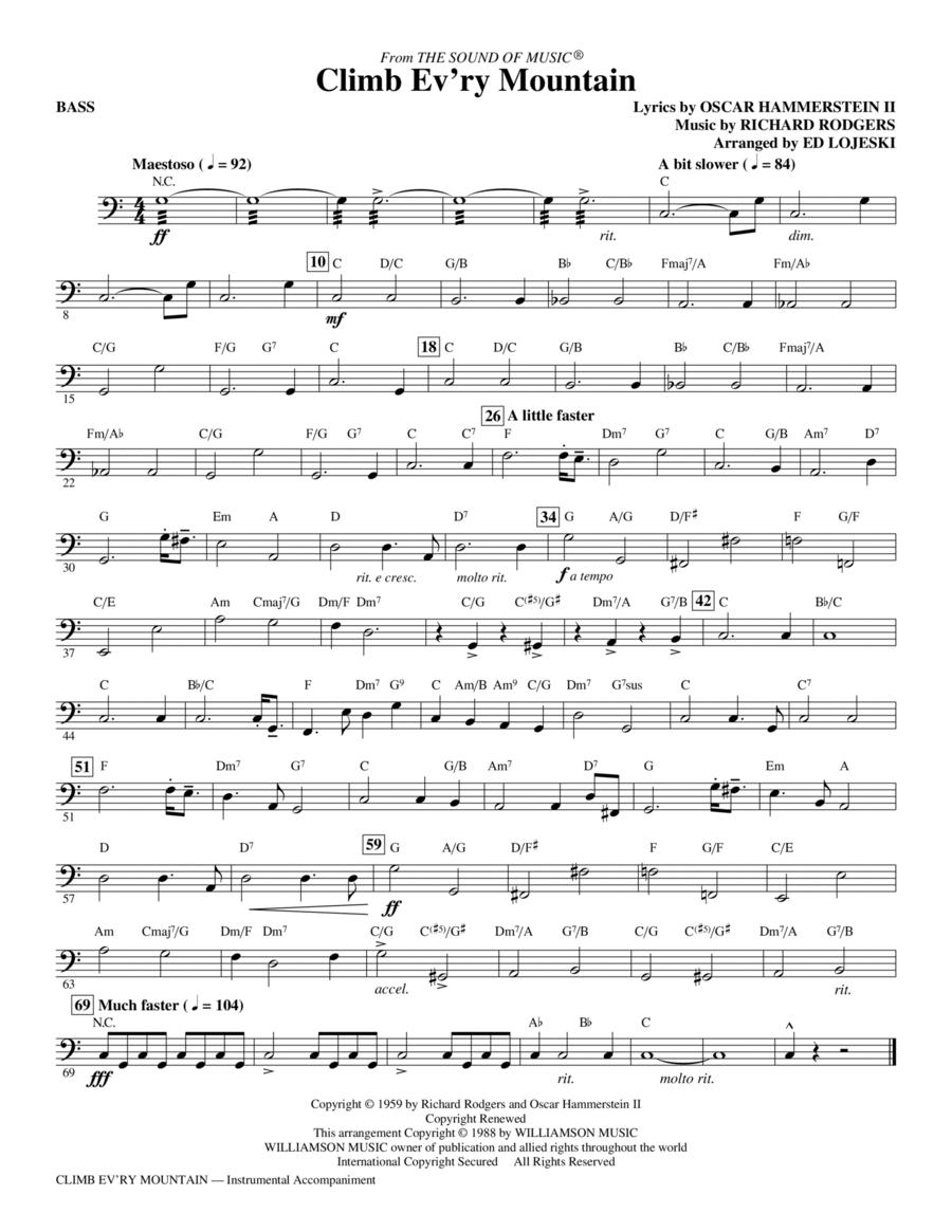 Climb Ev'ry Mountain - Bass