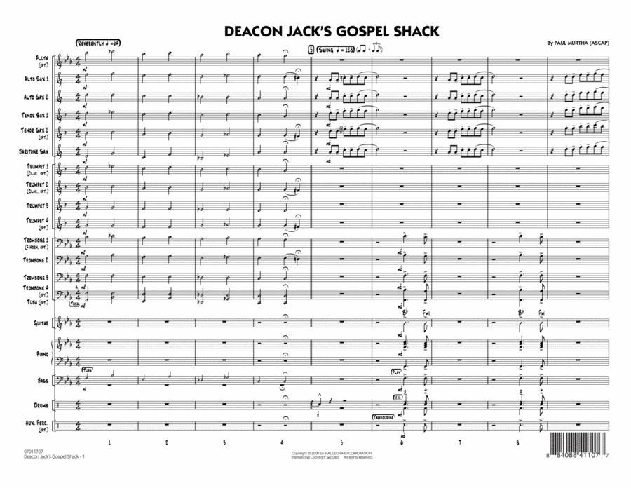 Deacon Jack's Gospel Shack - Full Score