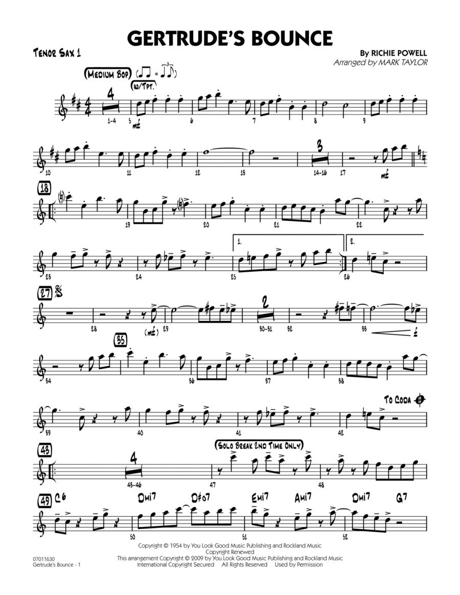 Gertrude's Bounce - Tenor Sax 1